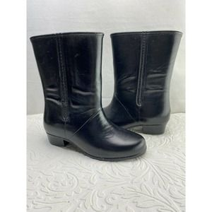 Classic Black Rubber Water Rain Boot
